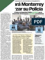14-04-16 Apostará Monterrey a reforzar su Policía