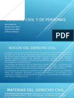 Derecho Civil y de Personas