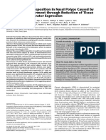 Excessive Fibrin Deposition in Nasal Polyps Caused by Fibrinolytic Impairment through Reduction of Tissue Plasminogen Activator Expression