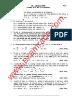 Physics Oscillations MCQ