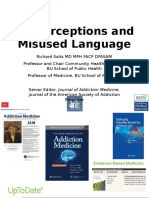 Misperceptions and Misused Language