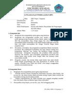 RPP 1 Matriks Penjumlahan Dan Pengurangan