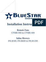 Bluestar Remote Fan Install Manual