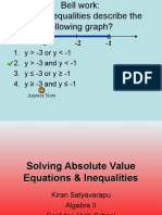 1-6 solving abs value eqns   inequal