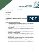 Epistemología e Historia de Las Ciencias Naturales 2015