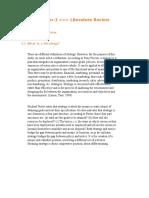 Literature- Marketing Strategy
