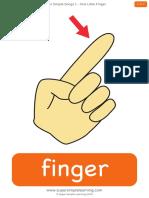 One Little Finger Flashcards