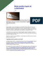 Câteva Probleme Juridice Legate de Semnătura Electronică