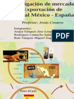 Exportación de Mezcal a España