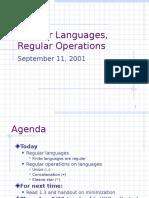 Presentation on Regular Languages