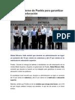 01-04-2016 SDP Noticias - Trabaja Gobierno de Puebla Para Garantizar Acceso a La Educación