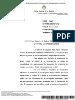 Texto de la Cámara Federal que rechazó la excarcelación de Jaime