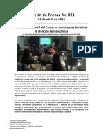 Boletín 021 La Mesa Psicosocial Del Cauca Un Espacio Para Fortalecer La Atención de Las Víctimas