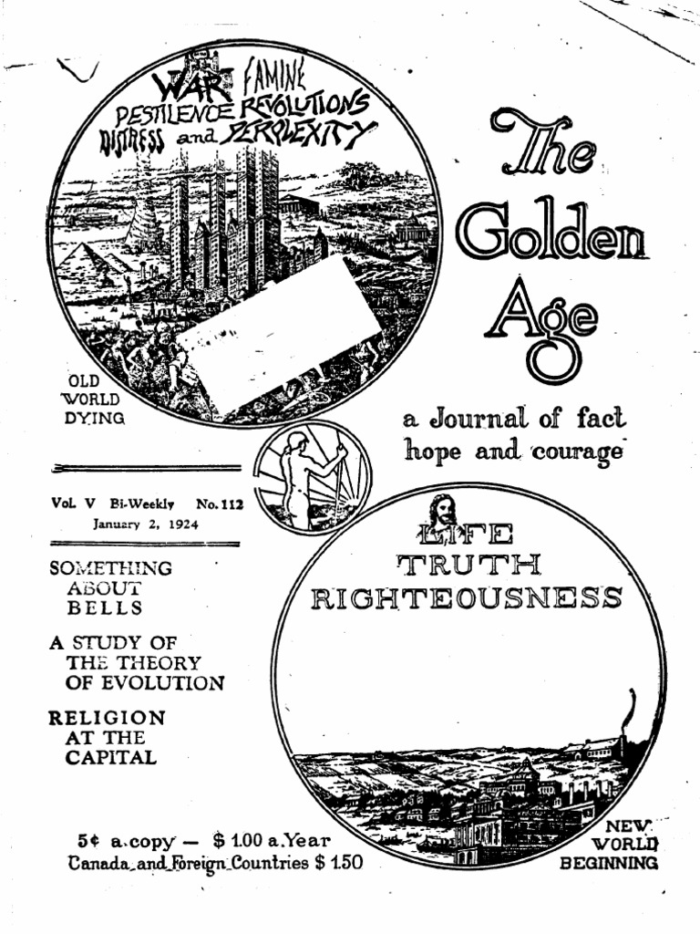 Watchtower: 1924 Golden Age issues