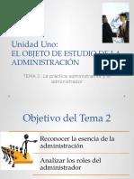 2.-La Práctica Administrativa