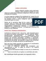 RENTAS de LA SEGUNDA CATEGORÍA Global y Adicional, Administracion Del Impuesto Ucinf2010