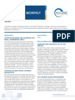 April 2016 Compliance Monthly