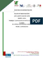 Cédula de Clasificación de Textos Académicos Eduardo Ortega