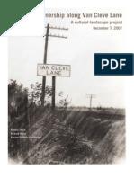 Land ownership along Van Cleve Lane—A cultural landscape project