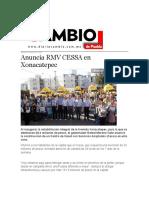 02-04-2016 Cambio de Puebla - Anuncia RMV CESSA en Xonacatepec