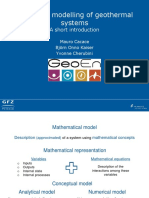 Numerical modelling of geothermal systems