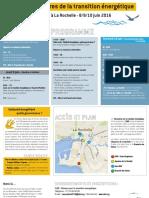 Programme des Rencontres de la transition énergétique 2016