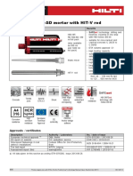 Technical Data Sheet for HIT-RE-500-SD Injectable Mortar for Anchor and Rebar Technical Information ASSET DOC 2331153