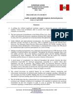 Preliminary Statement EUEOM Peru 2016