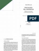Personalidad - Psicología del despertar - John Welwood