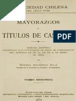 Mayorazgos y Titulos de Castilla
