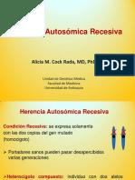 Herencia Autosómica Recesiva - Alicia. Mª Cock Rada