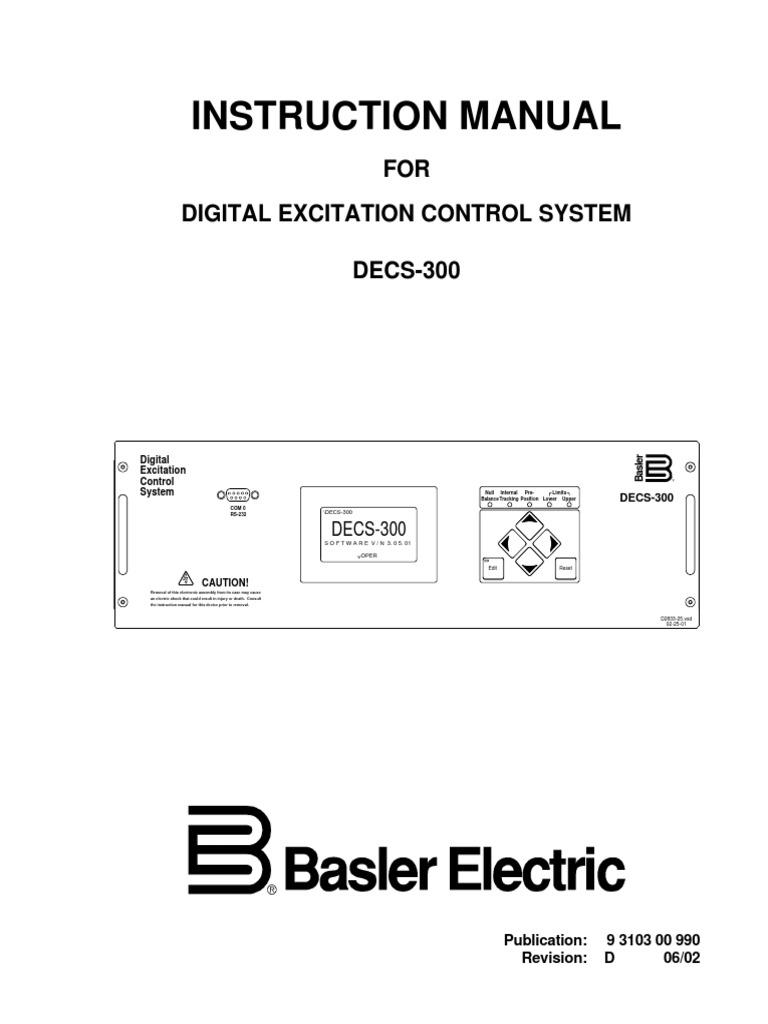 basler decs 300 instruction manual relay electric generator rh scribd com Generac Generator Wiring Diagrams Wiring Diagram Maker