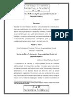 Noción de Ética Profesional y Responsabilidad Social Del Contador Público