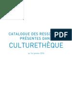 Guide Ressources Culturethèque 2016