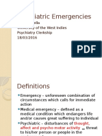 Psychiatric Emergencies - 1