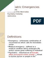 Psychiatric Emergencies - 1