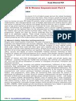Modi Schemes - Child & Women Empowerment Part 5 PDF