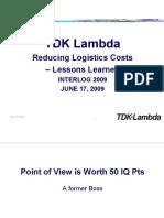 Interlog Summer Presentation TDK Lambda