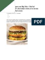 Cum Sa Faci Un Big Mac