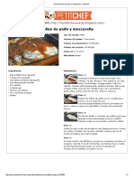 Receta Rollos de Pollo y Mozzarella - Petitchef