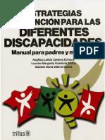 Estrategias de Atencion Para Las Diferentes Discapacidades