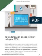 15 Tendencias en Diseño Gráfico y Web Para 2016