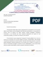 Presentación Comparecencia ANEP-Fuerza Pública Asamblea Legislativa