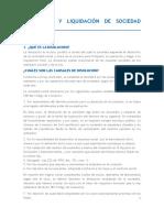 Disolución y Liquidación de Sociedad Comercial