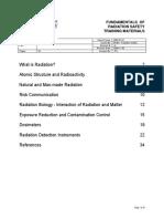 Fundamentals of Radiation Safety Reading Materials