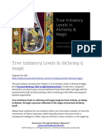 True Initiatory Levels in Alchemy & Magic