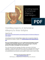 Unveiling Aspects of Alchemical Allegory in Solar Religion