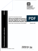 Advanced Digital Processing of Echo Sounder Signals for Characterization of Very Dense Submersed Aquatic Vegetation
