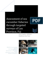 Assessment of Sea Cucumber Fisheries Through Targeted Surveys of Lau Province, Fiji