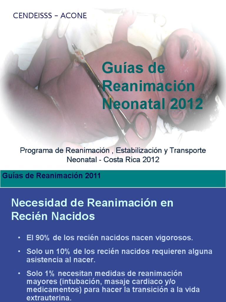 Neonatologia. Guias de Reanimacion Neonatal   PDF   Reanimación ...